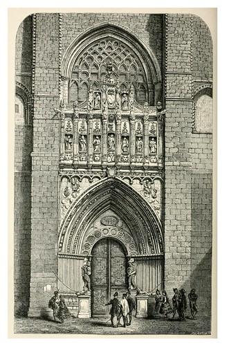 013-Puerta Oeste de la catedral de Avila-Impressions of Spain in 1866- Mary Elizabeth Herbert