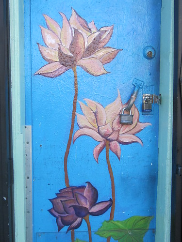 Lotus Painting on Door