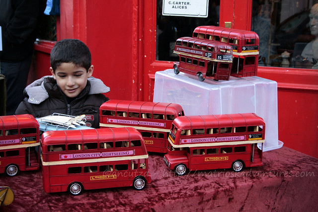 foto vintage double decker in miniatura