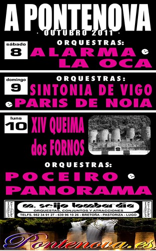 A Pontenova 2011 - Festas de outubro - cartel