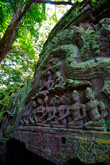 Reliefs (chillveers15) Tags: trees ancient ruins cambodia pentax sigma jungle 1020mm angkor wat ta carvings prohm etchings kx aspara