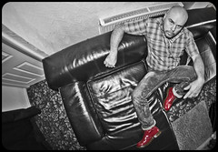From above. Red Doc Martens. . . And me. (CWhatPhotos) Tags: pictures above original red portrait white fish man black colour male eye love feet me yellow by self canon that lens cherry boot foot eos photo mine foto with hole martin boots photos lace dr air picture taken wear using have doctor adobe 7d stitching manual comfort doc martins cushion marten eight manualfocus docs laces drmartens selective airwair lightroom fisheyelens docmartens martens dms 65mm aspherical colourization 1460 opteka cushioned fisheyeview wair 1460s yellowstitching selfportraitsunlimited opteka65mm
