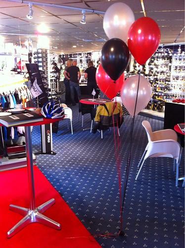 Tafeldecoratie 5ballonnen Holland America Kade Rotterdam