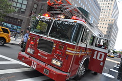 FDNY Ladder 10 (kollmannflorian) Tags: world park new york city rescue fire memorial bronx harlem manhattan worldtradecenter engine center firetruck queens brooklynbridge wtc ladder trade bigapple fdny groundzero department nyfd