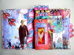 art journal mixed media pages 1 et 2 (Francoise MELZANI) Tags: couleurs collages images papier artjournalmixedmedia