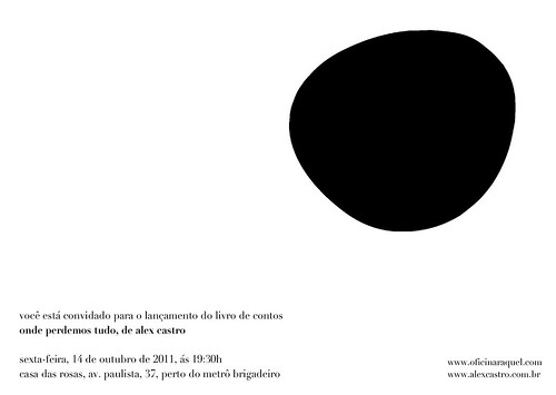 Convite - Lançamento paulista - Onde perdemos tudo