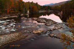 Predawn, Staple Rock Park (Shelle Ette) Tags: autumn reflection water river pond rocks newengland nh foliage cascade pemigewassetriver lakesregion fireflyridge shelleettelson yahoo:yourpictures=autumn staplerockpark michelleettelson yahoo:yourpictures=landscape