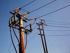 66kV Redlands Sub input (IE Rick) Tags: california ca tower cali high wire power transformer cable pole redlands substation fuse voltage sce insulator 4kv 66kv 12kv
