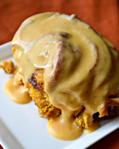 Pumpkin Cinnamon Rolls with Pumpkin Cream Cheese Icing