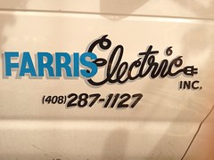 I'd choose Farris Electric Inc. (frankrolf) Tags: electric lettering script farris