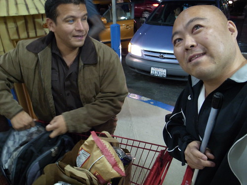Juan and Me at Trader Joe's grocery Store