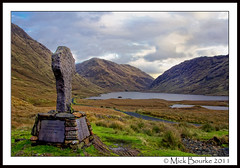 Doolough Tragedy Cross in Co.Mayo Ireland. (Mick Bourke.) Tags: ireland people irish food monument canon children dead hope women sad cross event tragedy valley 600 mayo roadside reminder famine inscription horrific humiliation doolough starving perished potatofamine mahatmagandhi 1849 louisburgh sufferings canon24105 canon60d commemorates sixhundred dooloughvalley mickbourke marquisofsligo