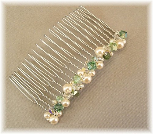 Green Wedding Hair Accessories