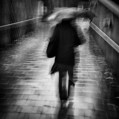Rain Walker.. (Peter Levi) Tags: street city blackandwhite bw woman blancoynegro umbrella sweden stockholm blackwhitephotos lx3 bestcapturesaoi elitegalleryaoi mygearandme asquaresuperstarstemple
