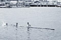 The Joy of Poverty (Nuno Bettencourt) Tags: poverty port swimming bamboo pole wharf kidsswimming staanawharf mygearandme flickrtravelaward