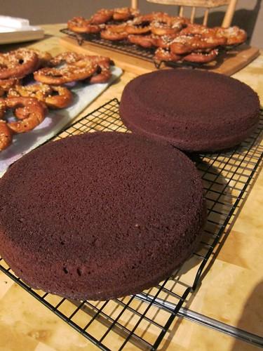 Cake (and pretzels)
