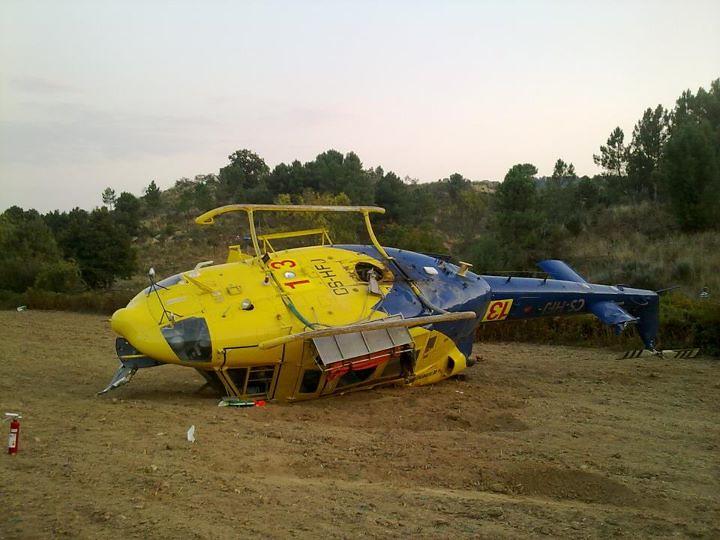 Bell212 de Helisul accidentado en Portugal