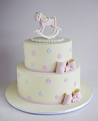 Rocking Horse Christening Cake (Sweet Tiers) Tags: boy girl celebration rockinghorse topper christeningcake 2tier