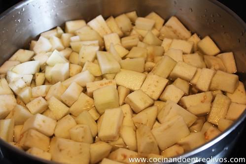 Revuelto de berenjenas y pimientos verdes (7)
