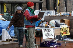 Occupy Minnesota, Day 17 - The Media Table