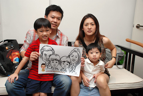 Caricature live sketching for Jonah's birthday party - 20
