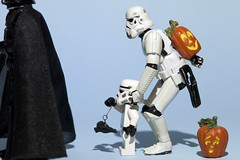 How will this end? (Explored) (Kalexanderson) Tags: stilllife halloween pumpkin toys star sweden stockholm bat son troopers darth stormtrooper treat wars trick fatherandson suprise familylife ordinarylife darthwader 365daysofstormtroopers stormtrooperandson