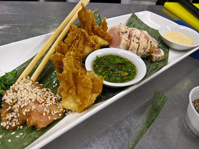 Albacore tuna done three ways