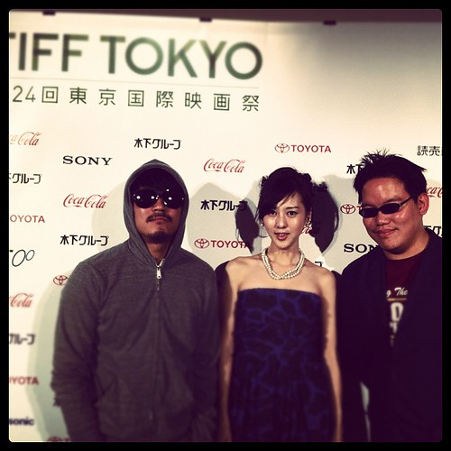 Kiki Sugino, me and Yang Ik June after the press conference