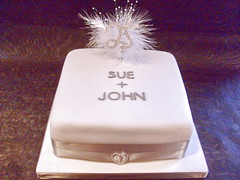 Silver wedding anniversary cake (Cakes by Natalie) Tags: wedding cake silver anniversary 25 years 25th