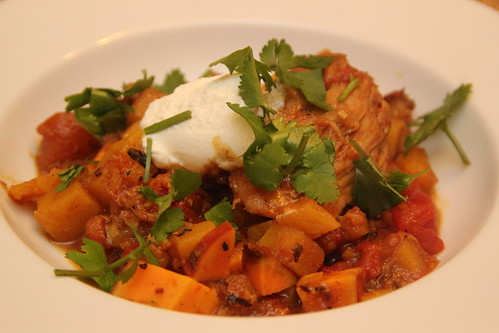 Squash and Chicken Stew with Indian Spices