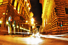 Golden Streets of Florence in HDR