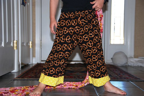 sewing trousers