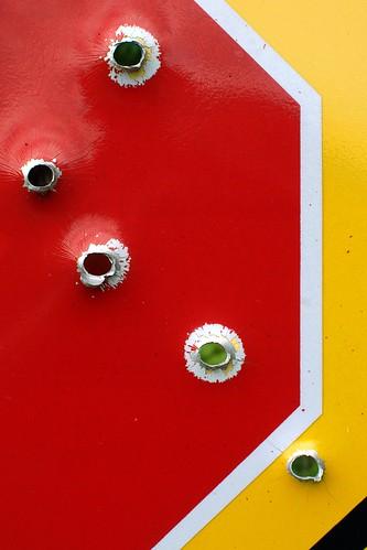 Shotgun Stopsign by dcclark