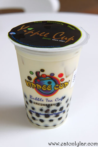 Brown Rice Green Milk Tea, Yippee Cup