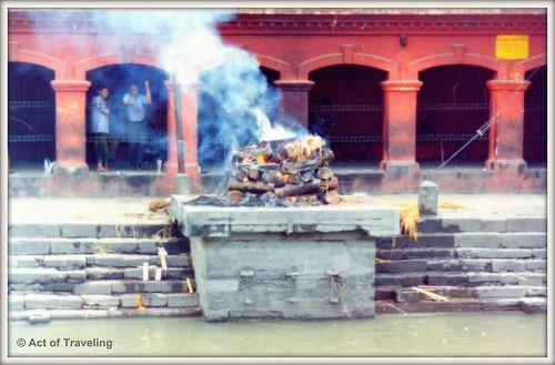 Burning ghat in Kathmandu