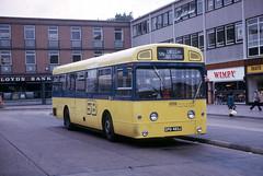 SM483 Stevenage Bus Station 27 July 1974 (national_bus_510) Tags: nbc stevenage mcw superbus aec nationalbuscompany londoncountry metrocammellweymann aecswift smclass lcbs