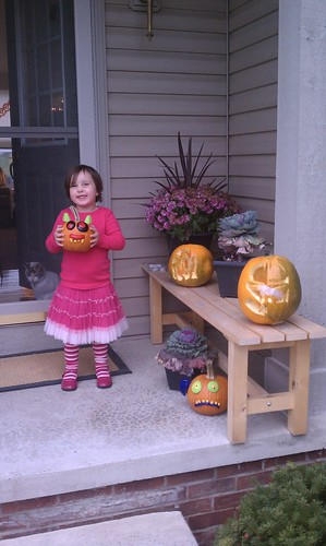Bel and her pumpkin