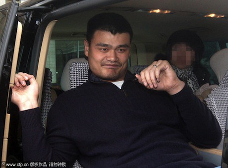 October 27th, 2010 - Yao Ming takes a van to Ninglang county