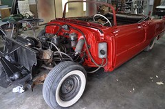"""1956 Series 62 Red Convertible Cadillac restoration • <a style=""""font-size:0.8em;"""" href=""""http://www.flickr.com/photos/85572005@N00/6303514272/"""" target=""""_blank"""">View on Flickr</a>"""