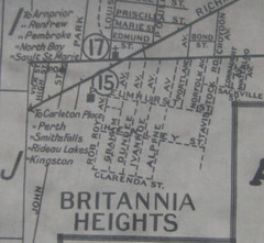 Britannia Heights - excerpted from 1926 map of Ottawa-Hull. Source: Ottawa Public Library Ottawa Room