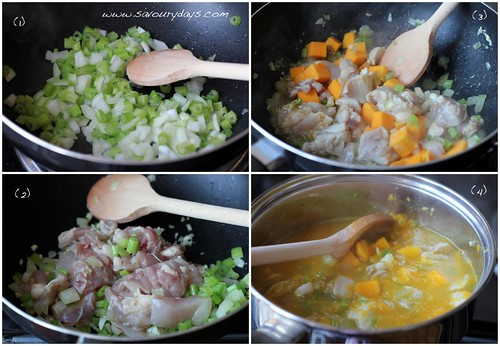 Chicken and Pumpkin Soup - method