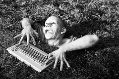 DearZombiesB&W (forzombies) Tags: keyboard zombie title titlephoto gardenzombie forzombies dearzombies