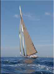 come fly with me ! (mhobl) Tags: white boat waves sailing regatta sainttropez tuiga