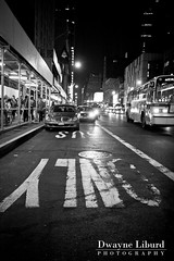 Bus Only (Dwayne Liburd) Tags: street newyork bus night lane only mta