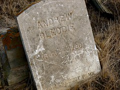 Remembering Andrew (Forgotten Corner Photo) Tags: cemetery death tombstone dreams ghosttown disappointment andrewgleddie prairiealdersonalberta