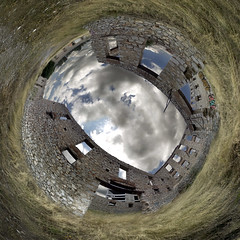 Huge Factory Ringworld, Halkis City (amfipolos) Tags: photoshop photography factory 360 sonycybershot polarcoordinates chalkis halkida littleplanet polarpanorama ringworld halkis stereographicprojection reverseplanet