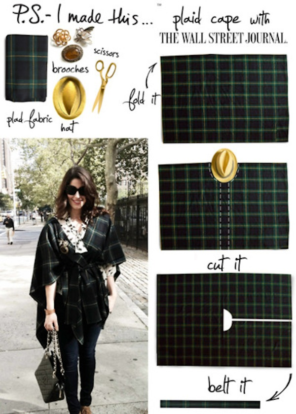 DIY plaid cape by P.S. I Made This..
