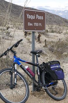 Cycling to Yaqui Pass