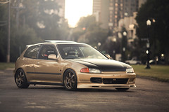 Flashing Lights (Rockets.) Tags: canon honda civic hatch eg te37 5dmk2 canibeat