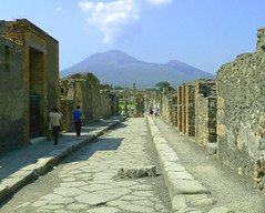 Vesuvius as seen from Pompeii, Italy (Ferry Vermeer) Tags: street italien italy mountain archaeology volcano ruins ita